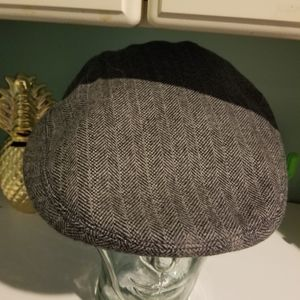Coach Herringbone Wool Newsboy Style Hat XL